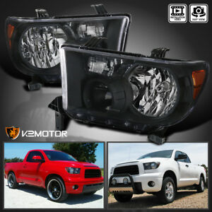 For 2007 2013 Toyota Tundra 2008 2014 Sequoia Jdm Black Headlights Left Right