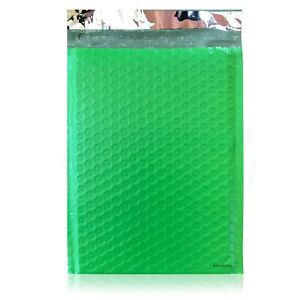 100 0 Green Poly Bubble Mailers Envelopes Bags 6x10 Extra Wide Cd Dvd 6x9