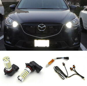 Xenon White 69 smd 9005 Led Drl Kit For Mazda Cx 5 Daytime Running Lights