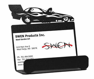 Swen Products Farrell Funny Car Black Metal Business Card Holder