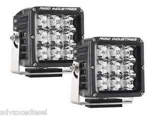 Rigid Industries Dually Xl Series White Led Spot Lights Pair 32221