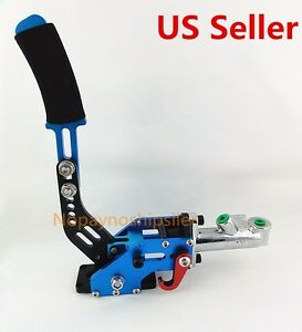 Hydraulic Horizontal Drift Rally E Brake Racing Parking Handbrake Lever Blue