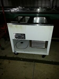 Wells Self Contained Warming Table Refrigerated Well Unit Ice Cream Toppings