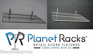 6 Planet Racks 24 X 12 No Lip Shelves Gridwall slatwall pegboard 2 Colors