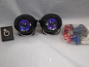 4x4 Off Road Projector Universal Driving Lamps Fog Lights Set Kit Wiring Harness