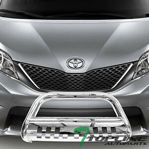 Topline For 2011 2019 Toyota Sienna Bull Bar Bumper Grille Guard Stainless