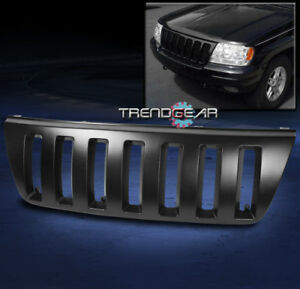 1999 2000 2001 2002 2003 2004 Jeep Grand Cherokee Sport Front Black Abs Grille