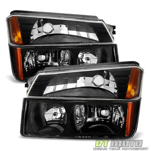 4pc 2002 2006 Chevy Avalanche Body Cladding Model Headlights Bumper Signal Lamps