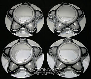Lincoln Navigator Chrome Wheel Center Hub Caps Rim Cover 5 Lug Wheels 16