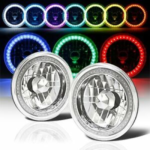 97 16 Jeep Wrangler Tj Jk 7 Rgb Multi Color Led Smd Halo Round Headlights