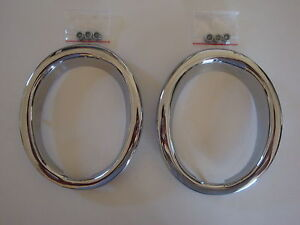 1965 1966 Ford Mustang Gt Exhaust Trim Rings New Pair