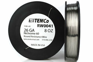 Temco Nichrome 60 Series Wire 26 Gauge 8 Oz 706 Ft resistance Awg Ga