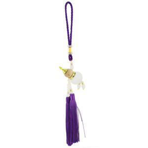 Cucurbit Shape Perfume Bottle Tassels Pendant Car Hanging Decoration Purple