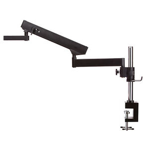 Amscope Apc nf Articulating Arm Stand W Post Table Clamp For Stereo Microscopes