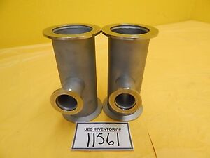Edwards High Vacuum Tube Tee Nw50 Nw25 Iqdp Series Lot Of 2 Used Working