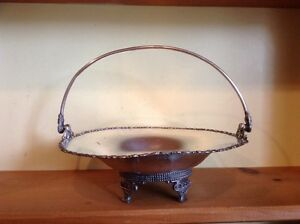 Antique Forbes Silver Co Footed Brides Basket