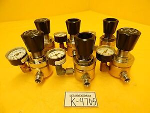 Tescom 44 3213h282 296 Manual Pressure Regulator Brass 44 3200 Lot Of 6 Used
