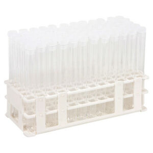 60 Tube 16x150mm Clear Plastic Test Tube Set With Caps And Rack