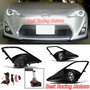 Jdm Style Fog Light Kit clear Lens Fits 12 16 Scion Fr s