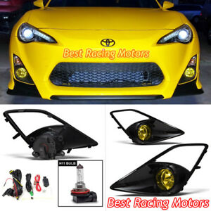 Jdm Style Fog Light Kit yellow Lens Fits 12 16 Scion Fr s