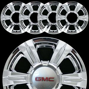 4 Chrome 2014 2015 2016 Gmc Terrain 17 Wheel Skins Full Rim Covers Hub Caps New