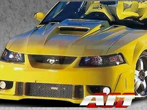 1999 2004 Ford Mustang Ait Racing Type 5 Style Functional Cooling Aero Frp Hood