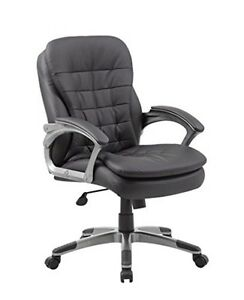 Boss Office Boss Executive Mid Back Pillow Top Chair B9336 Executive Chair New