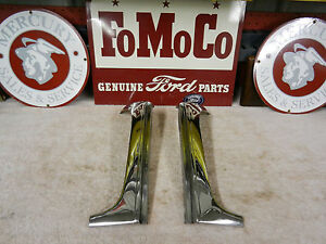 1955 1956 Ford Mercury Convertible Windshield Stainless L R Sides Restored