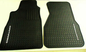 93 02 Camaro Coupe Floor Mats All Weather Front Set Black Gm New 12495267