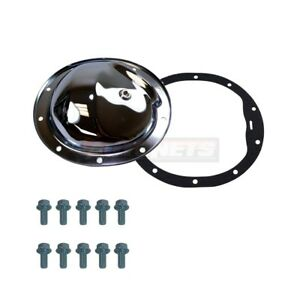 Chrome Chevy 10 Bolt Rear End Differential Cover W Plug 8 5 Camaro Nova Chevelle