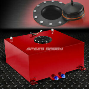 15 Gallon Red Coated Aluminum Racing drifting Fuel Cell Gas Tank level Sender