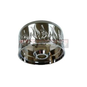 Chrome Flamed Billet Aluminum Steering Wheel Column Hub Adapter Gm 9 Hole Bolt