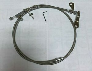 Gearhead Ford Mercury C4 C 4 Stainless Braided Transmission Kickdown Cable
