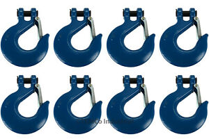 8x 3 4 Chain Slip Safety Latch Hook Clevis Rigging Tow Winch Trailer Grade 70