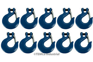 10x 3 4 Chain Slip Safety Latch Hook Clevis Rigging Tow Winch Trailer Grade 70