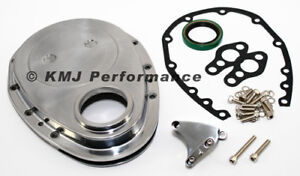Sbc Chevy Polished Aluminum Timing Chain Cover Kit W Tab 283 305 327 350 400