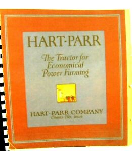 Hart parr Sales Manual The New Models As Well As The Old 69 Pgs comb Shipping