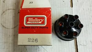 226 Mallory Distributor Cap New In The Box 6 Cylinder