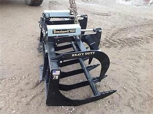Tomahawk Two Cylinder 78 Hd Brush Grapple Skid Steer Root Rake