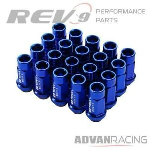M12x1 5mm Aluminum Wheel Lug Nuts Open End Fit Civic S2000 Prelude Del Sol Fit