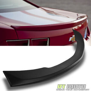 Matte Black 2010 2013 Chevy Camaro Ss Abs Oe Style Rear Trunk Lid Spoiler Wing