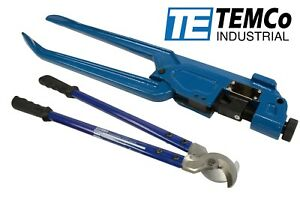 Temco Dieless Indent Wire Lug Crimper Tool Electrical Cable Cutter Set