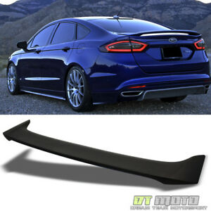 Matte Black 2013 2018 Ford Fusion 4dr Factory Style Rear Trunk Abs Spoiler Wing