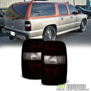 2000 2006 Chevy Tahoe Suburban Gmc Yukon Dark Red Tail Lights Lamps Left Right
