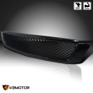 For 2000 2005 Cadillac Deville Honeycomb Front Hood Grille Glossy Black 00 05