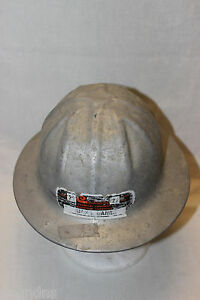 B F Mcdonald Aluminum Safety Hard Hat Celanese Chemical Sticker Reduced