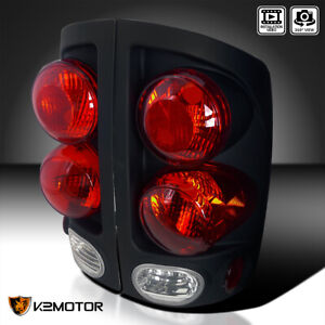 For 2002 2006 Dodge Ram 1500 2500 3500 Black 3d Style Tail Lights Left Right