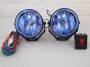 2 4x4 Off Road 3 5 Universal Driving Lamps Fog Lights Set Kit Wiring Harness 55
