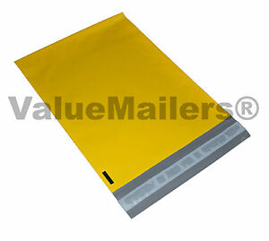 500 12x15 5 Yellow Poly Mailers Shipping Envelopes Couture Boutique Quality Bags