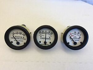 Tractor Oil Pressure Amp And Temperature Gauge Set For John Deere D H Styled